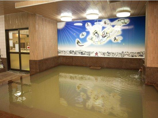 Sanyoso: 大浴場 弁天の湯(ナトリウム・カルシウムー塩化物温泉)