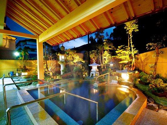 Sanyoso: 庭園露天風呂(ナトリウム・カルシウムー塩化物温泉)