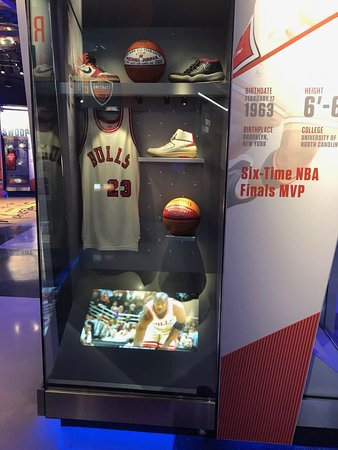 newest collection 7981f 8c6f1 Michael Jordan jersey - Picture of Basketball Hall of Fame ...