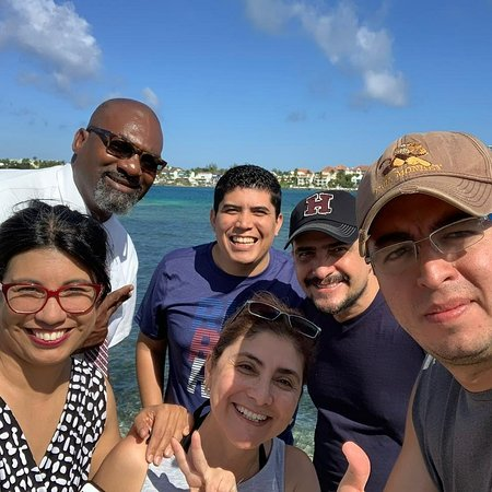 Big D with guests on an island tour. We had an awesome time. Book a tour today. Call us at 1(242) 466-1989.