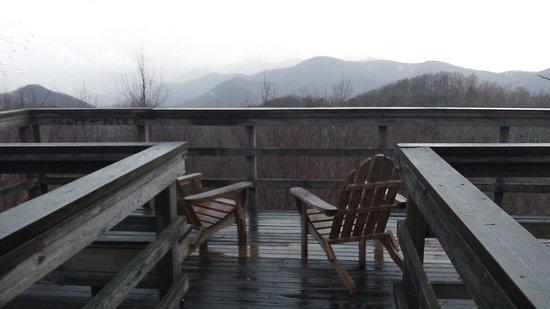 Mountain City, GA: Blue Ridge Overlook. Rainy Day.