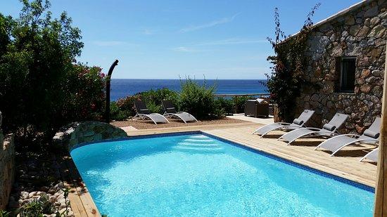 Corse-du-Sud, Francja: location villa luxe face à la mer avec piscine et spa
