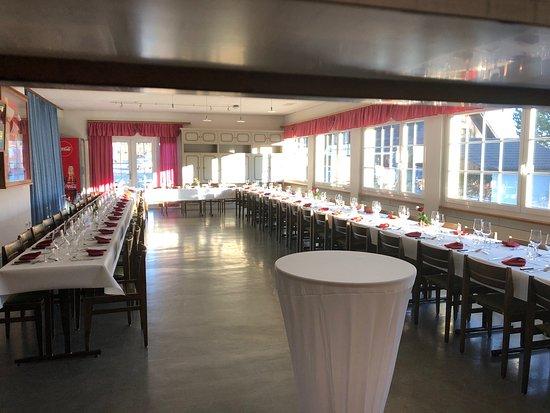 Restaurant Hubel : Unser Saal für grössere Events
