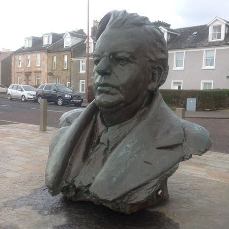 Bust of John Logic Baird on Helensburgh esplanade