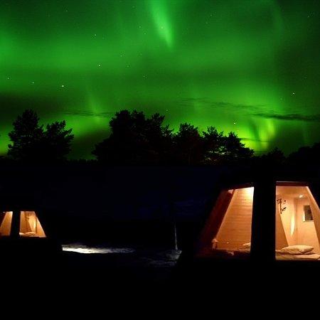 Vindeln, Sverige: Sleep in a Aurora Tepee
