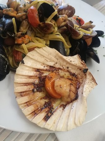 Fresh seafood, home made pasta, great servis