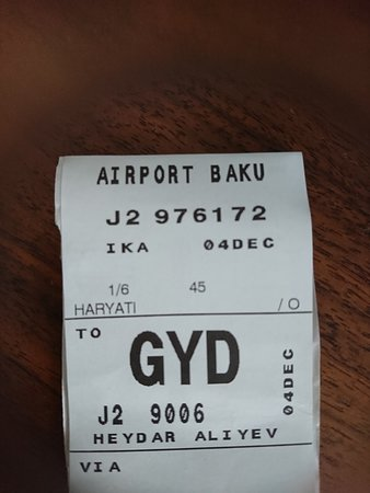 Buta Airways: 2018 Dec Trip - Buta Airways (Tehran IKA - Azerbaijan GYD)