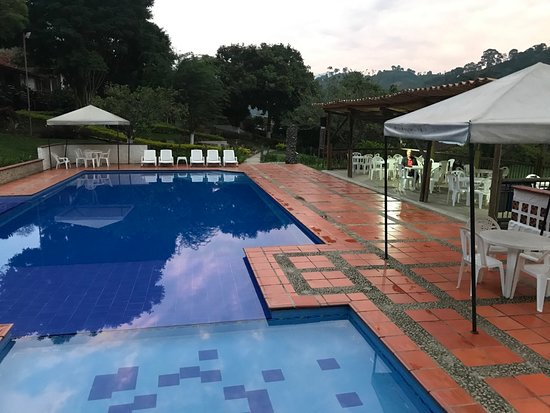 Andes, Colombia: late afternoon pool