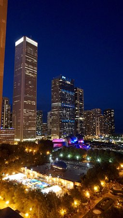 """The view from the Roof was """"amazing"""" at night. You could see the Bean and it looked really pretty!"""