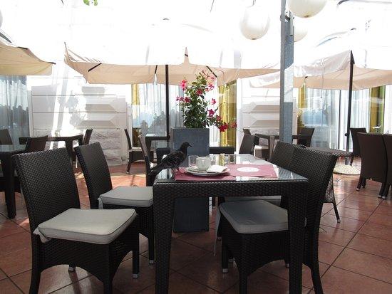 На открытой террасе ресторана Кристалл, Опатия, Хорватия