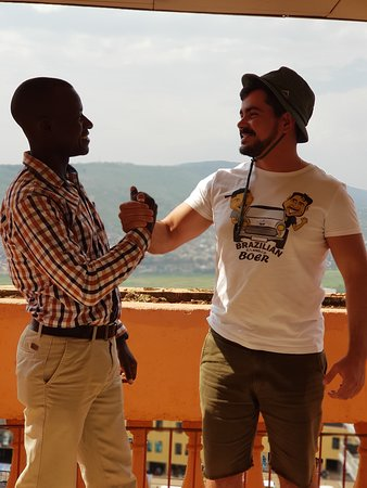 Masindi, Uganda: Me and Obedi - my your guide and friend at the end of my trip in Kigali - Rwanda.