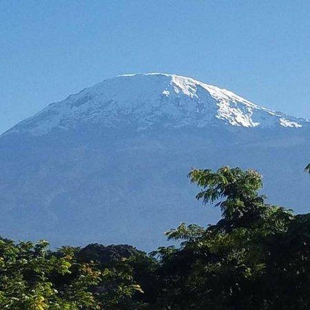 Blessed Tanzania Travel: Mount Kilimanjaro views from hotel at moshi
