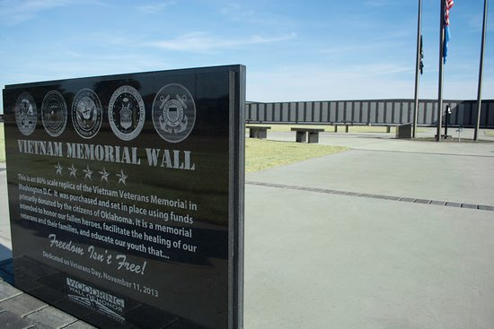 Enid, OK: Woodring Wall of Honor and Veterans Park.