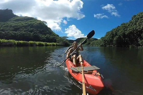 桨考艾岛丛林溪流和徒步旅行
