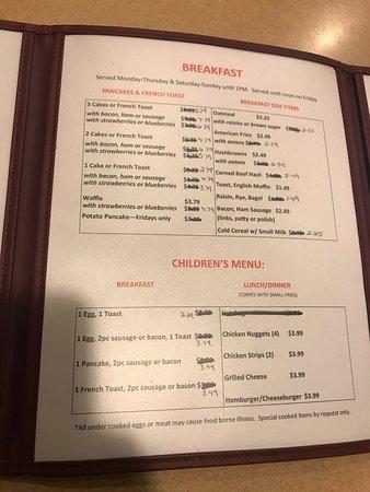 Melissa's Amberg Cafe: Menu options