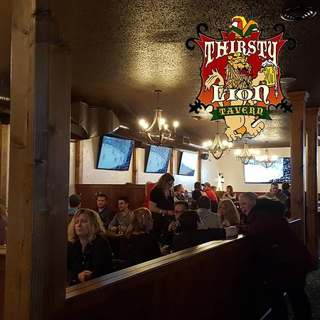 The Thirsty Lion Tavern located in The River Crest Inn. Open 7 days a week to serve you.