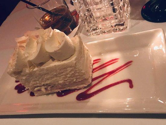 Salty's on Alki Beach: White Chocolate Mousse Cake