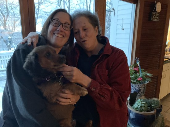 Sugar Hill, NH: Meri, Rocky and me - Rocky fell in love!