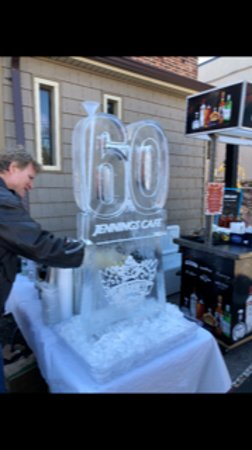 Catonsville, MD: Ice luge  in celebration of our restaurant's 60 year anniversary!