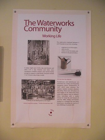 Hamilton Museum of Steam & Technology: CANADA - HAMILTON - MUSEUM OF STEAM & TECH #6 - INFO BOARD ON WATERWORKS COMMUNITY