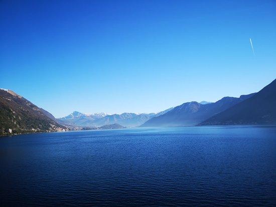 Splendida la vista del Lago di Como da Argegno.