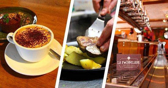 La Fourmilière est ouverte du matin pour le café, en passant par le midi pour le déjeuner, jusqu'au soir pour l'apéro !