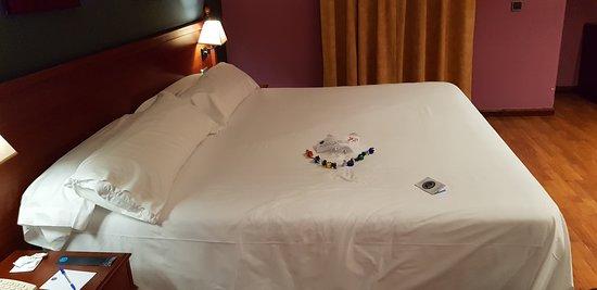 El Espinar, Spain: la cama muy chula preparada