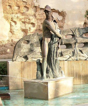 Fuente del monumento de Álvar Núñez 'Cabeza de Vaca'
