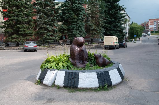 Bear with a Cub Sculpture