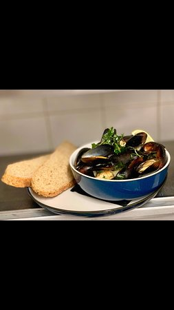Moules Mariniere with Artisan Bread