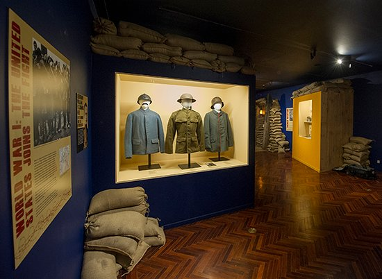 Knights of Columbus Museum: Authentic French, American and German WW1 uniforms.