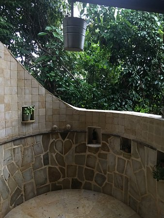 Ian Anderson's Caves Branch Jungle Lodge: I used the outdoor shower every time just because I wanted to maximize the jungle experience