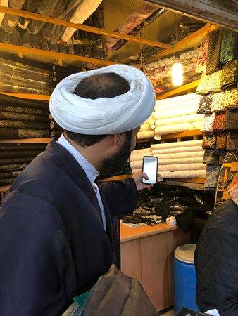 Inside the Grand Bazaar of Isfahan.