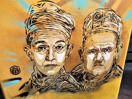 Fresque Laurel et Hardy