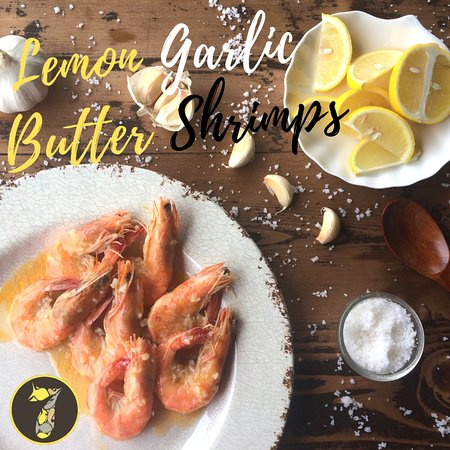 7 Fishes By Coco Veranda: Shrimps with Lemon-Garlic-Butter Sauce