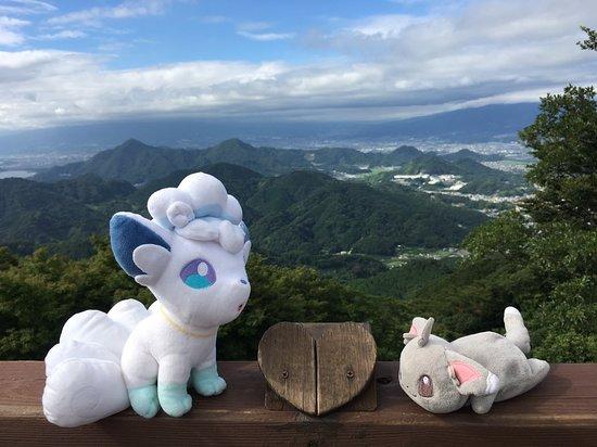 頂上の景色 富士山が見えない(-。-;