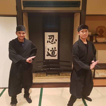 practicing use of katana