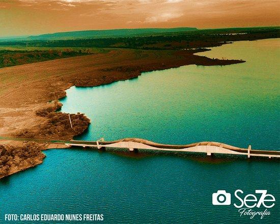 Cacu, GO: Lago Salto do Rio Verdinho, Rio Verdinho, Município de Caçu Estado de Goiás