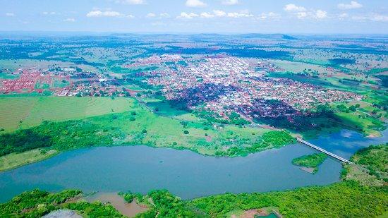 Cacu, GO: Vista aérea da Cidade de Caçu, Estado de Goiás