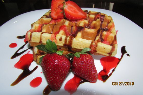 Santa Barbara, Honduras: Desayuno Waffles