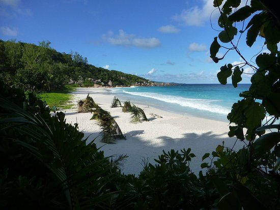 Petite anse beach is the second through the hill