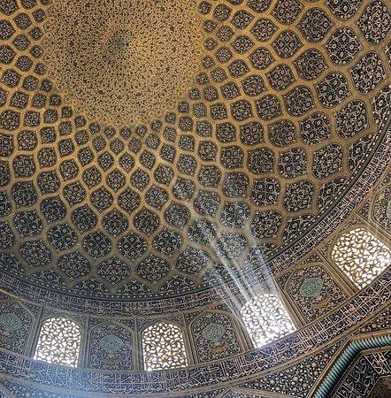 Inside Sheikh Lotfollah Mosque in Isfahan.