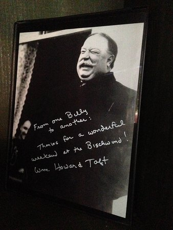 Bear Creek, PA: W.H. Taft signed message hidden away in the TR Suite