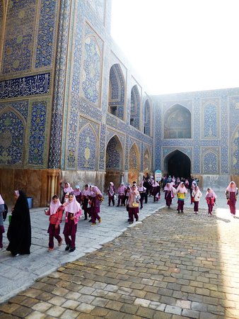 Another view of Shah Mosque in Isfahan.