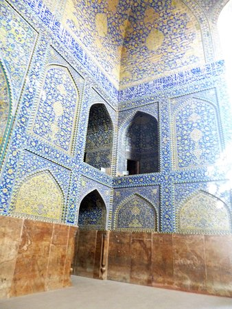 Tile works at Shah Mosque in Isfahan.