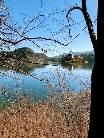 Vista margeando o lago