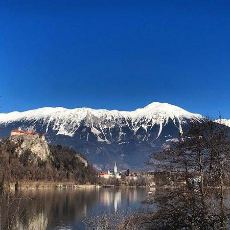 As margens do lago Bled