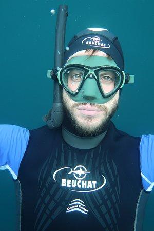 Selfi in cenote azul