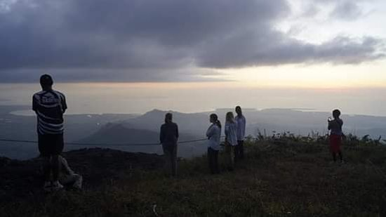 Few were experiencing one of the best views in the west located at the peak of Mountain Batilamu in Abaca village.