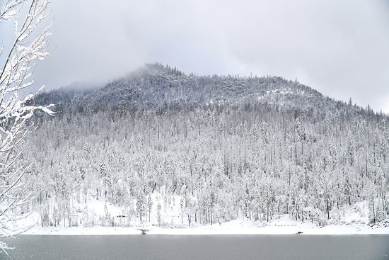 View from the suites of Goat Mountain across Bass Lake
